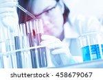 female medical or scientific... | Shutterstock . vector #458679067