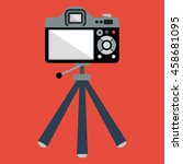 vector image of the camera on a ... | Shutterstock .eps vector #458681095