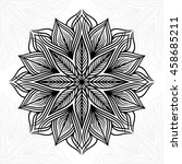 mandala. round ornament pattern. | Shutterstock .eps vector #458685211
