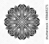 mandala. round ornament pattern.   Shutterstock .eps vector #458685271