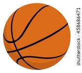 basketball ball isolated....   Shutterstock .eps vector #458686471