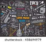 music instruments set. hand... | Shutterstock .eps vector #458694979