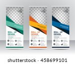 roll up banner template design | Shutterstock .eps vector #458699101