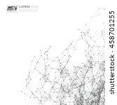 black and white mesh vector... | Shutterstock .eps vector #458701255