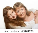 happy family  young beautiful... | Shutterstock . vector #45870190