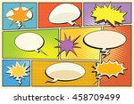 comic book page explosions ... | Shutterstock .eps vector #458709499