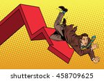 business male financial... | Shutterstock .eps vector #458709625