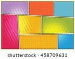 comic book storyboard style pop ... | Shutterstock .eps vector #458709631
