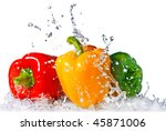 Red  Yellow And Green Pepper...