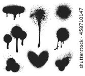 spray paint vector set. paint...   Shutterstock .eps vector #458710147