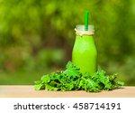 blueberry smoothie milk shake.  | Shutterstock . vector #458714191