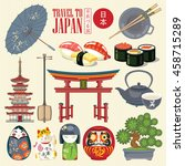 Постер, плакат: Colorful Japan travel poster