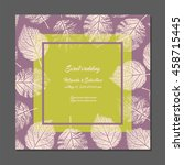 invitation card with forest... | Shutterstock .eps vector #458715445