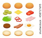 ingredients for burgers and... | Shutterstock .eps vector #458717695
