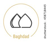 baghdad  iraq  outline icon... | Shutterstock .eps vector #458718445
