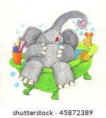 Acrylic Illustration Of...
