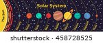 memo names of the planets in... | Shutterstock .eps vector #458728525