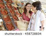 senior woman going to grocery... | Shutterstock . vector #458728834