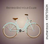 the old blue classic bicycle. | Shutterstock .eps vector #458733634