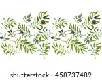 watercolor background with... | Shutterstock . vector #458737489