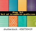 stars  pop art seamless pattern ...