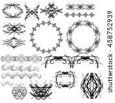vector set of graphic elements... | Shutterstock .eps vector #458752939