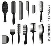 Set Of Ten Combs  Vector...