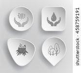 4 images  bird in hands ... | Shutterstock .eps vector #458759191