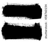 set of hand drawn brushstrokes... | Shutterstock .eps vector #458760154