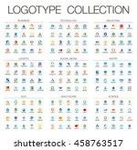 abstract logo set for business... | Shutterstock .eps vector #458763517