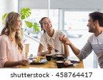 group of happy friends having...   Shutterstock . vector #458764417
