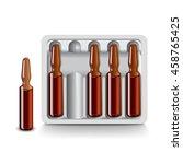 medical vials for injection... | Shutterstock .eps vector #458765425