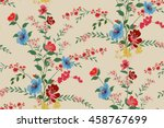 trendy seamless floral pattern... | Shutterstock .eps vector #458767699