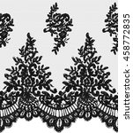 seamless  black vector lace... | Shutterstock .eps vector #458772835