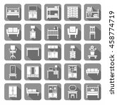 furniture  icons  monochromatic ... | Shutterstock .eps vector #458774719