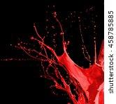red paint splash isolated on... | Shutterstock . vector #458785885