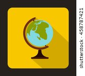 globe icon in flat style on a... | Shutterstock .eps vector #458787421