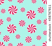seamless christmas pattern with ... | Shutterstock .eps vector #458787811
