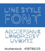 vector linear font   simple and ... | Shutterstock .eps vector #458788135