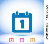 calendar 1 vector icon