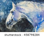 Painting Of Lipizzaner Horse...