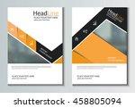 leaflet brochure flyer template ... | Shutterstock .eps vector #458805094