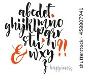 vector alphabet. hand drawn... | Shutterstock .eps vector #458807941