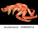red king crab isolated on black ... | Shutterstock . vector #458808514