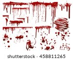 set of various blood or paint...