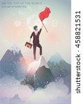 concept of leadership   man on... | Shutterstock .eps vector #458821531