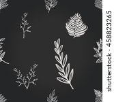 vintage seamless pattern with... | Shutterstock .eps vector #458823265