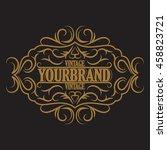 antique label  vintage frame... | Shutterstock .eps vector #458823721