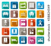 furniture  icons  colored  flat.... | Shutterstock .eps vector #458824549