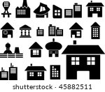 mega houses set. vector | Shutterstock .eps vector #45882511